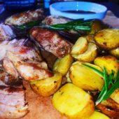 Каюк свинье с картофелем с розмарином